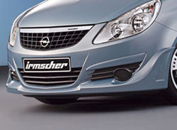 Накладка на бампер передний Opel Corsa D (дорестайлинг)