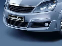 Накладка на бампер передний Opel Zafira B (дорестайлинг)