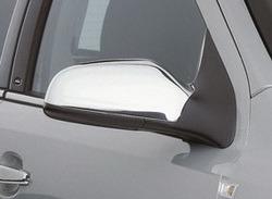 Накладки на зеркала бокового вида для Opel Astra H хромированные