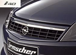 Решетка радиатора Opel Astra H GTC (рестайлинг) с планкой из высококачественной стали и надписью i40