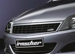 Решетка радиатора Opel Astra H GTC (рестайлинг) черная с рамкой