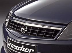 Решетка радиатора Opel Astra H GTC (рестайлинг) с планкой из высококачественной стали