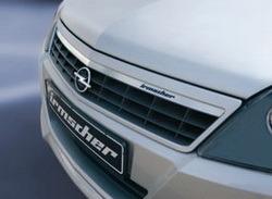 Решетка радиатора Opel Astra H Хэтчбек, Универсал, GTC (дорестайлинг) с планкой из высококачественной стали