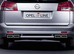 Глушитель Opel Vectra C на две стороны с четырьмя насадками к двигателям 2,8 л turbo