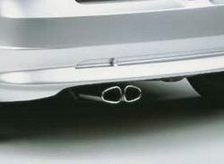 Глушитель со сдвоенной насадкой для Opel Astra G (дизель и 2,0 л turbo)