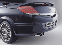 Глушитель Opel Astra H слева со сдвоенной насадкой к двигателям Z13DTH, Z17DTL, Z17DTR, A17DTR и Z17DTH