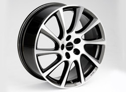 Диски литые R18 легкосплавные двухцветные дизайн Turbo Star exclusiv-Design для Opel Astra J c бензиновыми двигателями 1,6T л, дизельными двигателями 1,7 л и 2,0 л