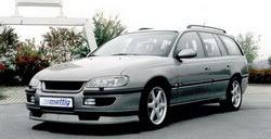 Накладка на бампер передний Opel Omega B (Тип A)