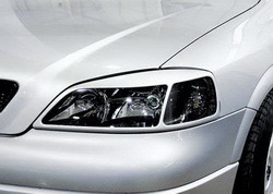 Реснички на фары Opel Astra G