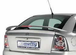 Спойлер задний Opel Astra G с третьим дополнительным стоп-сигналом