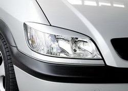Реснички на фары Opel Zafira A в стиле Carbon-Look