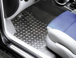 Накладки на пороги Opel Zafira A передние алюминевые