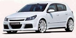 Бампер передний Opel Astra H для автомобилей со светодиодными фарами