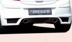 Глушитель Opel Corsa D слева с одной насадкой к двигателям 1.0l, 1.2l, 1.3l, 1.4l, 1.7l