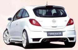 Обвес на Opel Corsa D с глушителем с выхлопом на две стороны от компании Rieger