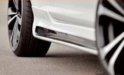 Пороги Opel Corsa D 3-х дверная в стиле Carbon-Look