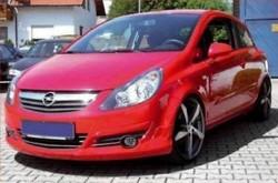 Накладка на бампер передний Opel Corsa D
