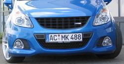 Накладка на бампер передний Opel Corsa D OPC
