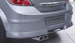 Накладка на бампер задний Opel Astra H Хэтчбек с диффузором