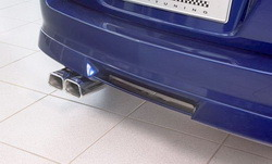 Накладка на бампер задний Opel Astra H Универсал с диффузором