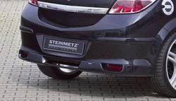 Накладка на бампер задний Opel Astra H GTC с диффузором
