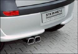 Глушитель Opel Tigra со сдвоенной насадкой