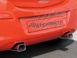 Глушитель Opel Corsa D на две стороны с двумя насадками к двигателям 1,0i Twinport