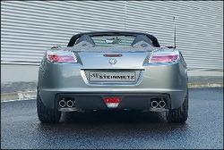 Глушитель Opel GT на две стороны с четырьмя насадками 4 х 70 мм из высококачественной стали.