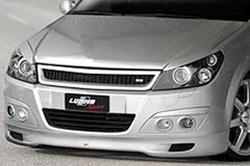 Накладка на бампер передний Opel Astra H в стиле GT