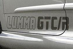 Наклейка Lumma GTC/R серебряного цвета для Opel Astra H