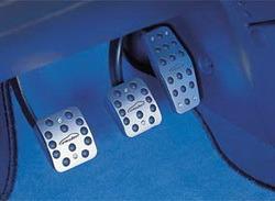 Накладки на педали Opel Corsa D алюминевые (для РКПП) с надписью Irmscher