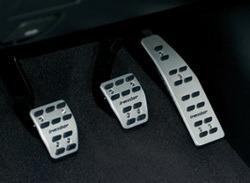 Накладки на педали Opel Antara алюминевые (для МКПП) с надписью Irmscher