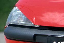 Реснички на фары Opel Tigra в стиле GT/F1