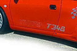 Наклейка Тigra 348 в хромированном цвете для Opel Tigra