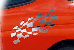 Наклейка развивающегося флага для Opel Tigra
