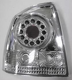 Фонари задние Opel Astra G хромированные прозрачные LED (светодиодные)