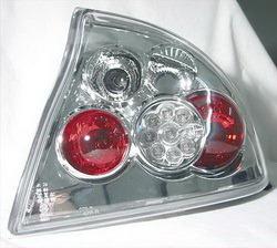 Фонари задние Opel Tigra хромированные прозрачные LED (светодиодные)