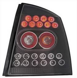 Фонари задние Opel Astra G черные прозрачные LED (светодиодные)