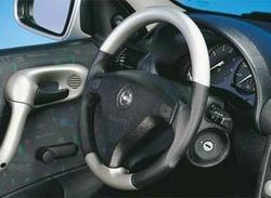 Руль для Opel Corsa B, Opel Tigra в стиле Alu-Look с черными кожаными вставками