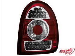 Фонари задние Opel Corsa B красные прозрачные LED (светодиодные)