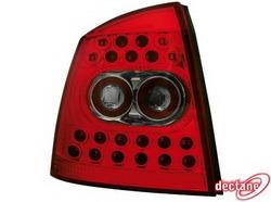 Фонари задние Opel Astra G красные прозрачные LED (светодиодные)