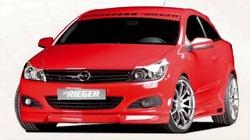 Обвес на Opel Astra H GTC со штатным глушителем от компании Rieger