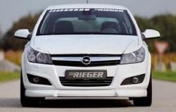 Обвес на Opel Astra H 5-ти дверная с глушителем слева с двумя насадками от компании Rieger