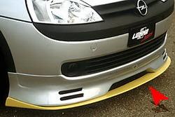 Спойлер для накладки на бампер передний Opel Corsa С для CC100001NED