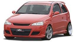 Обвес на Opel Corsa C в стиле GS/R от компании Lumma