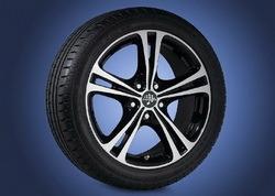 Шины летние Semperit 215 / 45 R17 с литыми дисками Steinmetz в стиле ST5 7,5J x 17 для Opel Astra H, Opel Corsa D, Opel Zafira B
