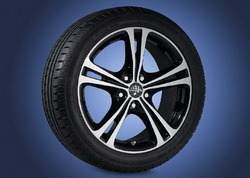 Шины летние Semperit 225 / 45 R17 с литыми дисками Steinmetz в стиле ST5 7,5J x 17 для Opel Astra H, Opel Zafira B