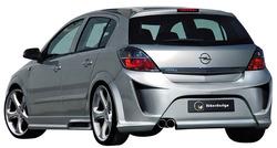 Бампер задний Opel Astra H Хэтчбек, GTC в стиле Viruss