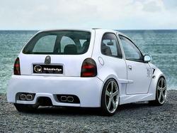 Бампер задний Opel Corsa B в стиле Optima Wide