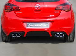 Глушитель Opel Astra J Хэтчбек на две стороны с четырьмя насадками к двигателям 1,4 бензин